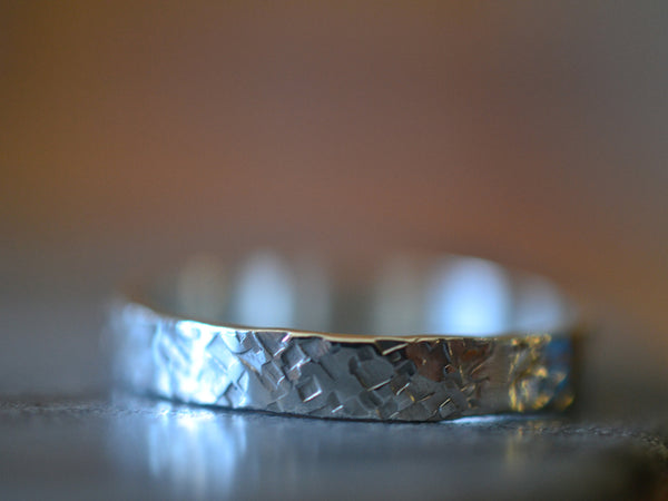 Customised Wedding Band in Sterling Silver