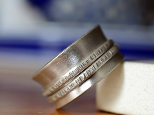 Handmade Sterling Silver Double Spinner Ring