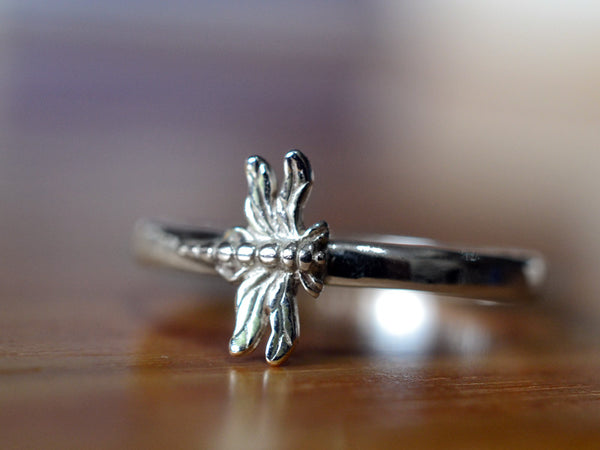 Handmade Sterling Silver Dragonfly Ring