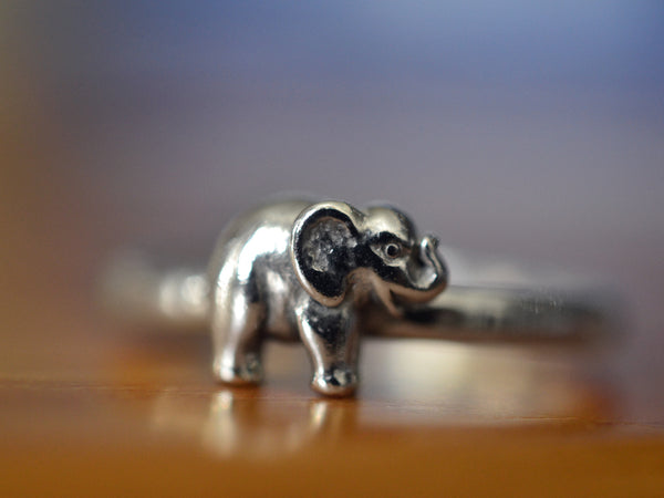 Handmade Customised Sterling Silver Elephant Ring