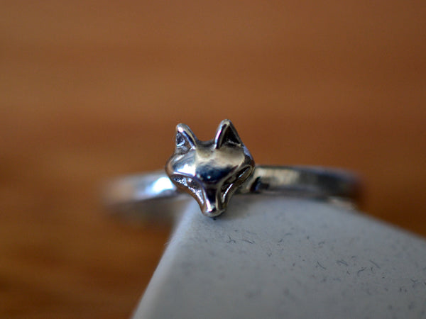 Dainty Sterling Silver Fox Ring