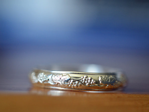 Handforged Sterling Silver Grape Vine Wedding Ring