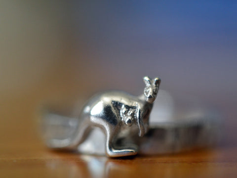 Personalised Sterling Silver Kangaroo Ring