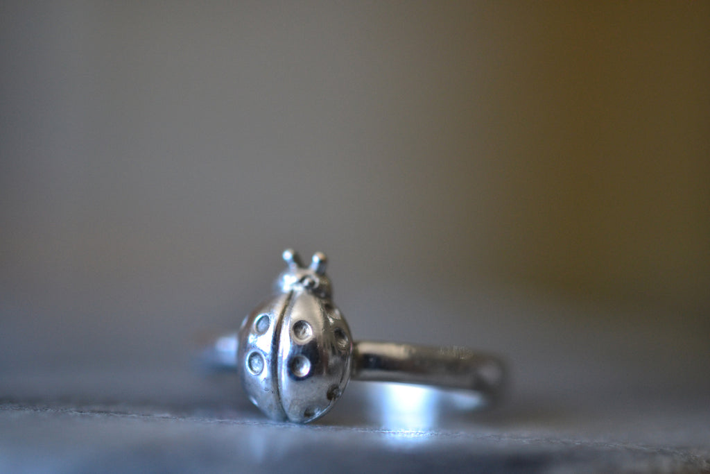Sterling Silver Ladybird Ring