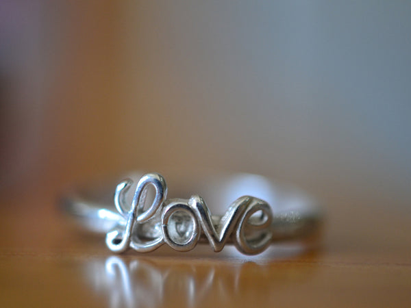 Handmade Sterling Silver Love Charm Ring