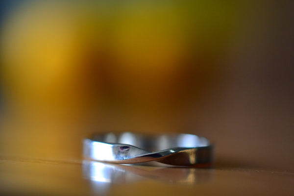 Women's Mobius Wedding Band in Sterling Silver
