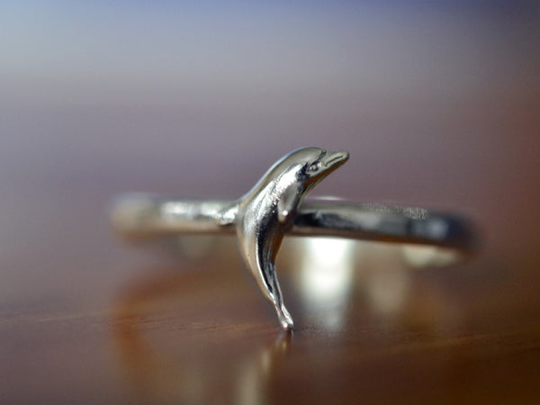 Handmade Sterling Silver Dolphin Ring