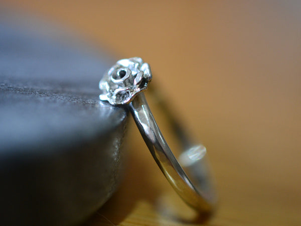 Sterling Silver Rose Charm Ring