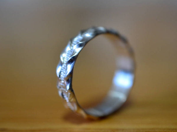 Handmade Sterling Silver Ruffle Pattern Wedding Band