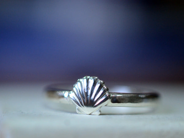 Handmade Sterling Silver Sea Shell Ring