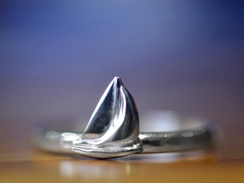 Handmade Sterling Silver Sailing Ship Charm Ring