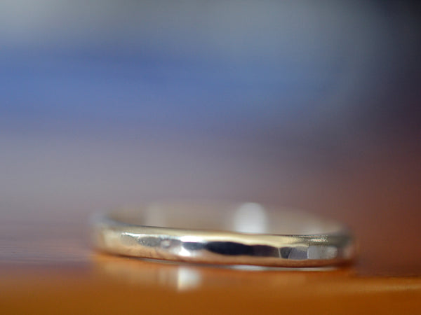 Simple 2mm Wide Sterling Silver Wedding Band