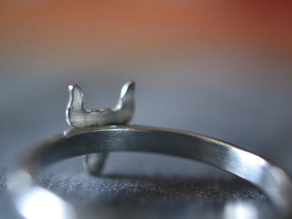 Customised Sterling Silver Steer Ring