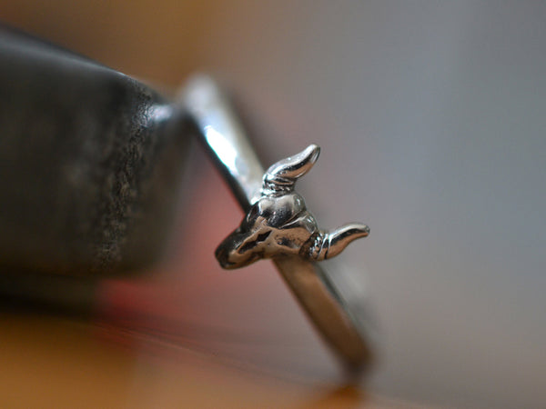 Personalised Sterling Silver Steer Ring