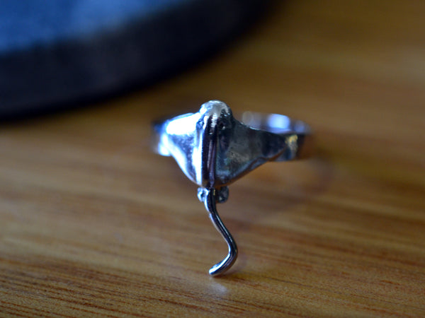 Handmade Sterling Silver Stingray Ring