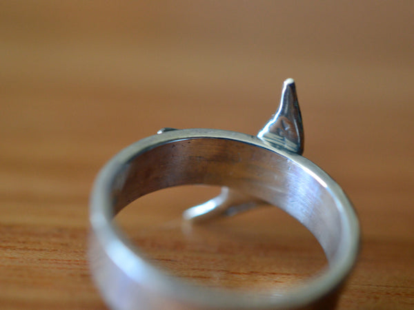 Sterling Silver Swallow Charm Ring for Men