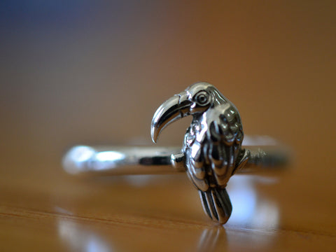 Personalised Sterling Silver Toucan Ring