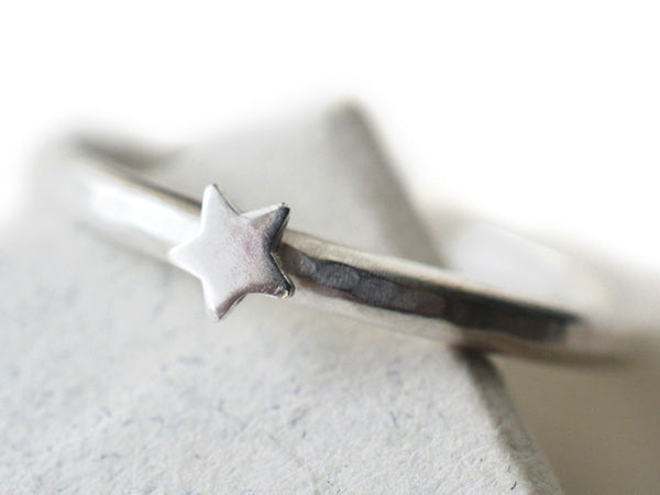 Dainty Little Star Ring in Sterling Silver