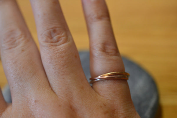 Women's Russian Style Wedding Band in 14K Gold