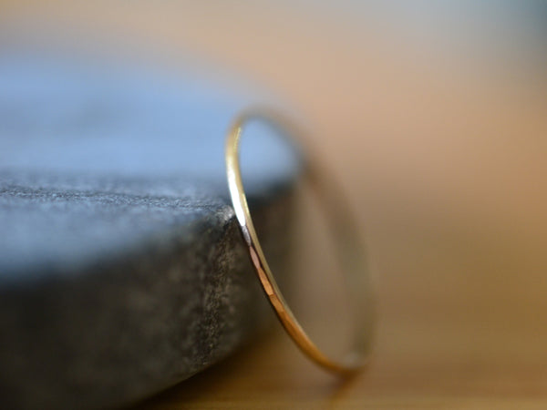 Super Thin 14K Yellow Gold Ring for Women