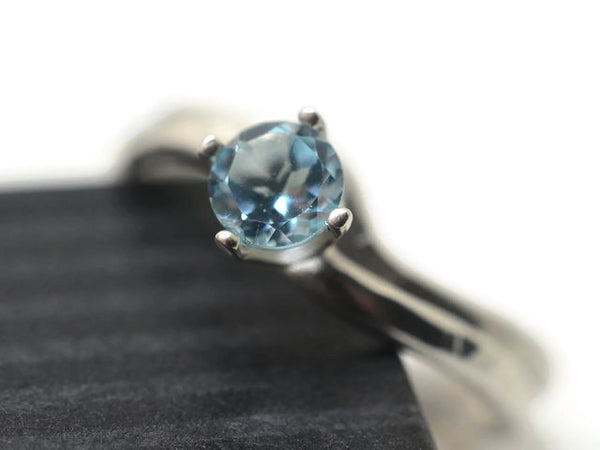 Sky Blue Topaz Wavy Bridal Set