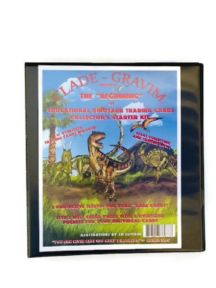 Dinosaur Trading Card Album Collectors Starter Kit The Beginning of Dino Collector Cards Clade-Gravim