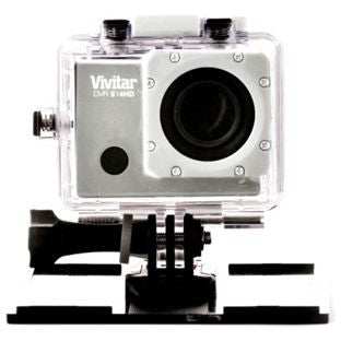 Vivitar 4K Action Camera with LCD Screen & Wifi - Silver.