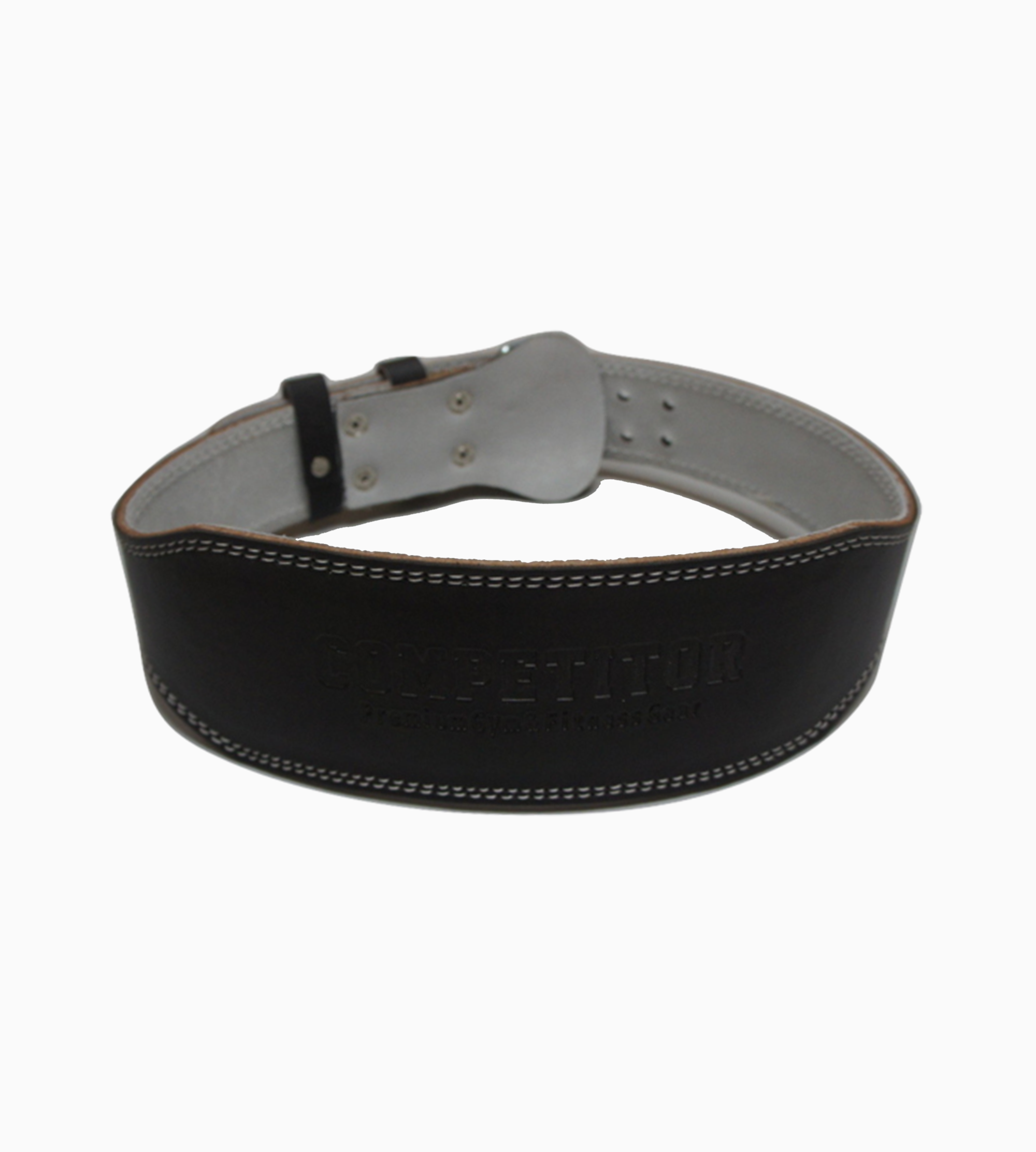 "4""Leather Lifting Belt (Black)"
