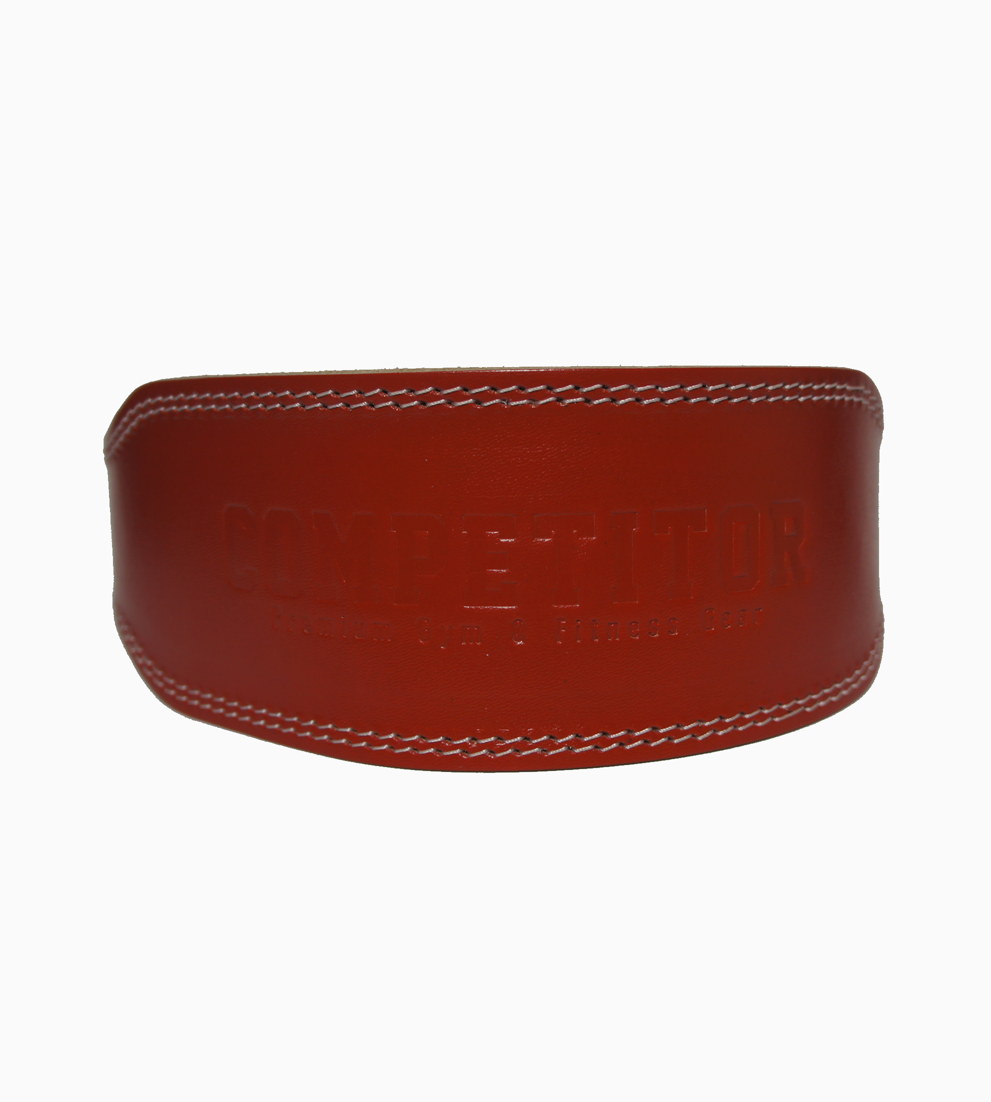 "4""Leather Lifting Belt (Red)"
