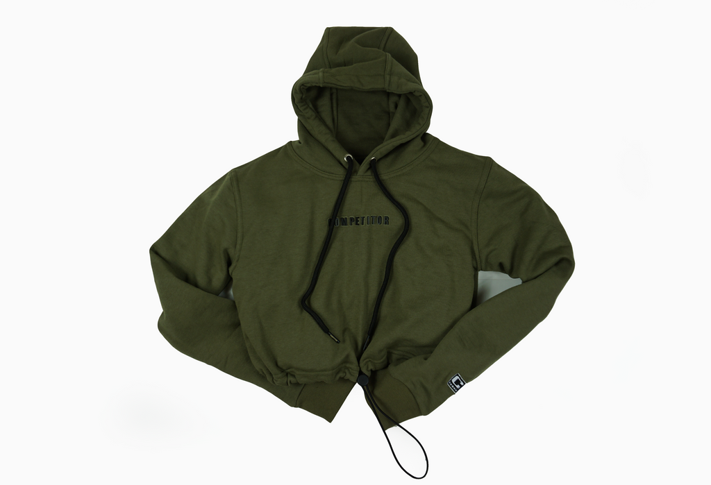 Icon Crop hoodie (Military Green)