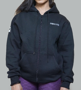 Women's Standard Zip-Up (Black)
