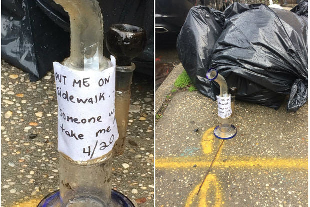 Free Bong Left On Sidewalk