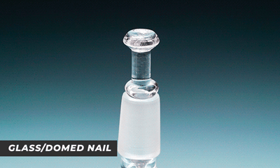 glass nail domed