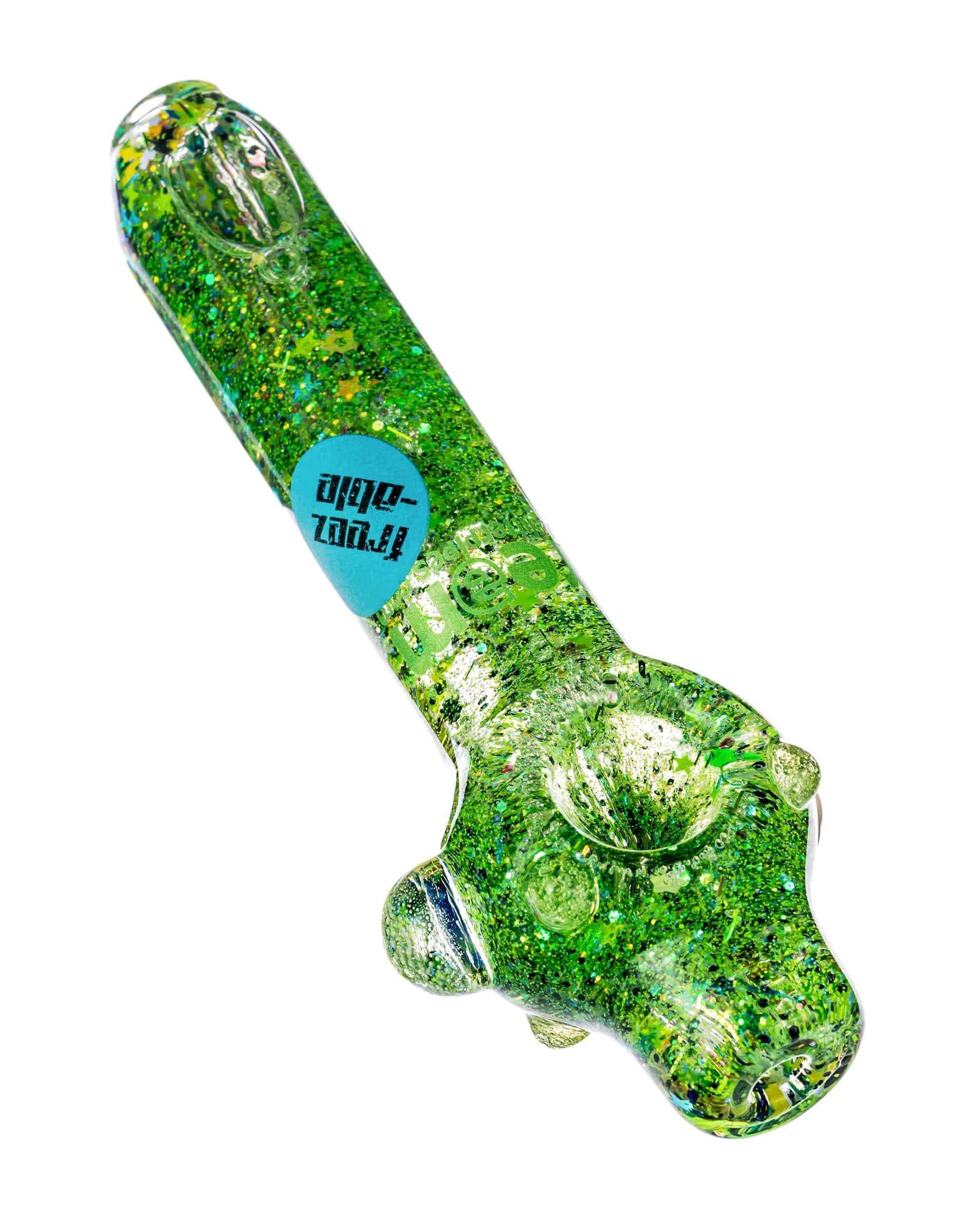 Large Freezable Galaxy Spoon Pipe in green