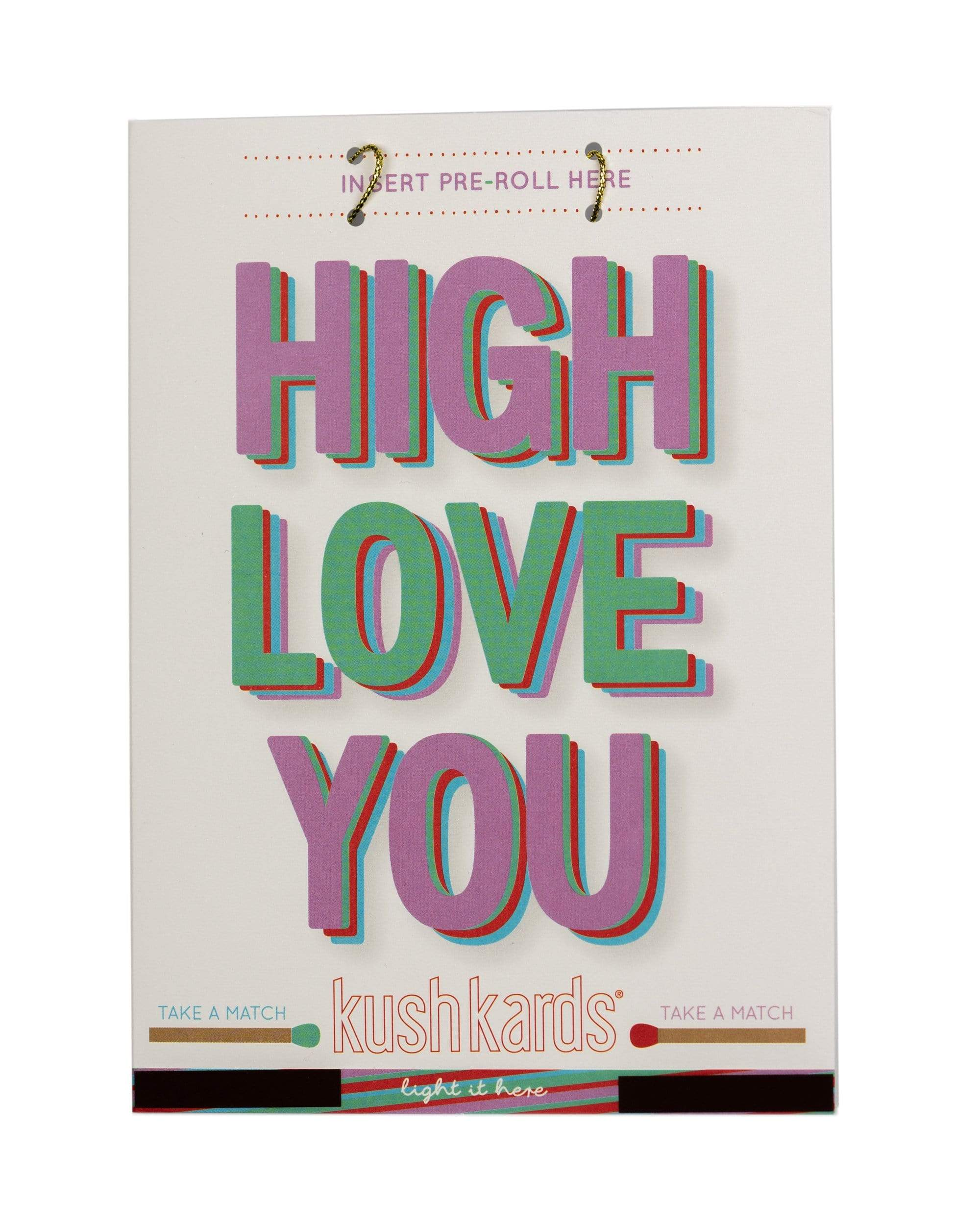 """High Love You"" Greeting Card"