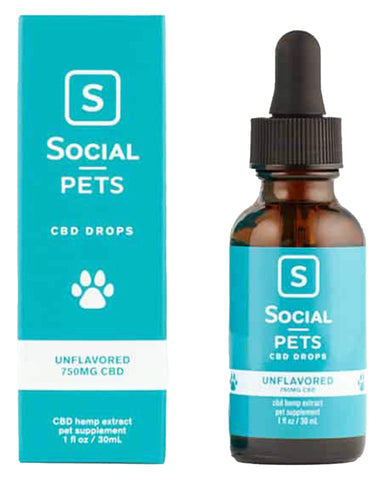 Social CBD 750mg CBD Pet Drops