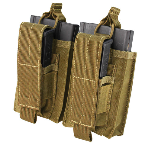Condor 191040: Double Kangaroo M14 Mag Pouch (Black/Tan/OD)