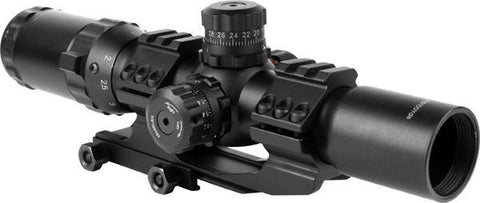 Precision Dynamics 1.5-4x30 Illuminated Scope w/ Cantilever Mount
