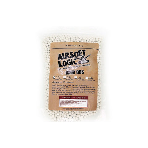 Airsoft Logic Non-Bio Plastic BB in 1kg Bag (0.2g / 0.25g / 0.28g)