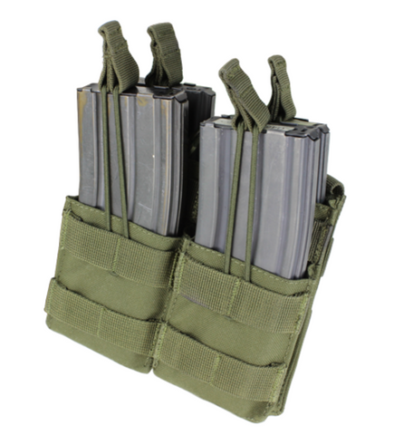 Condor MA43: Double Stacker Open-Top M4 Mag Pouch (Black / Tan / OD Green)