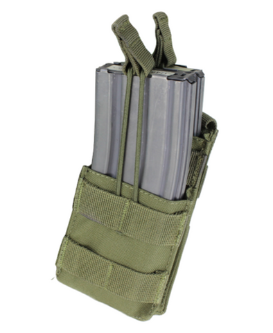 Condor MA42: Single M4 Open-Top Stacker Mag Pouch (Black/Tan/OD Green)