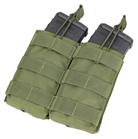Condor MA19: Double Open-Top M4 Mag Pouch(Black/Tan/OD Green)