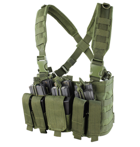 Condor MCR5: Recon Chest Rig (Black/Tan/OD Green)