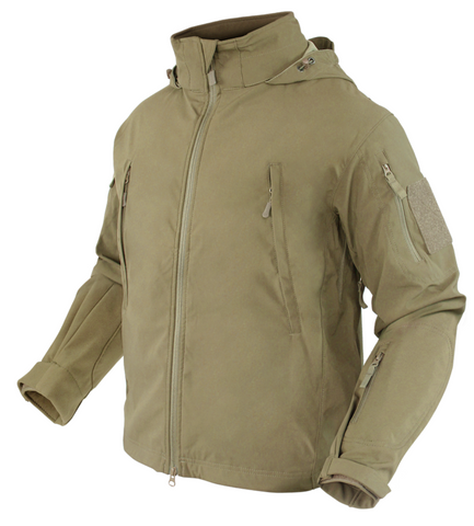 Condor 609: SUMMIT Zero Lightweight Soft Shell Jacket (Black/Tan/OD Green)