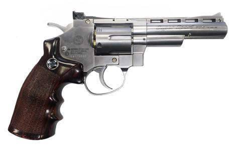 WinGun 708 S5 6mm Co2 Revolver (4/5/6inch) (Black / Silver)