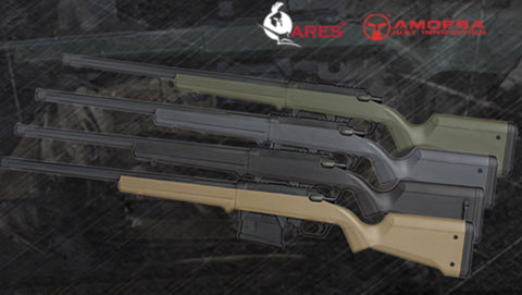 Ares Amoeba Striker Sniper Rifle AS01 (Black/Tan/OD/Grey)