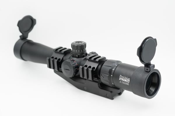 Precision Dynamics 2-7x32 RGB-Illuminated Reticle Scope with Cantilever Mount
