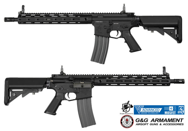 G&G Knights Armament SR15 E3 MOD2 Carbine M-Lok Rail Full Metal Black