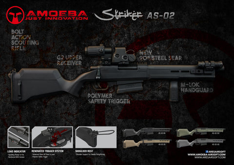 Ares AMOEBA STRIKER Compact AS02 SPRING SNIPER RIFLE (Black/Tan/Green/Grey)