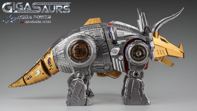 GIGAPOWER - GIGASAURS - HQ02 - GRASSOR - METALLIC VERSION